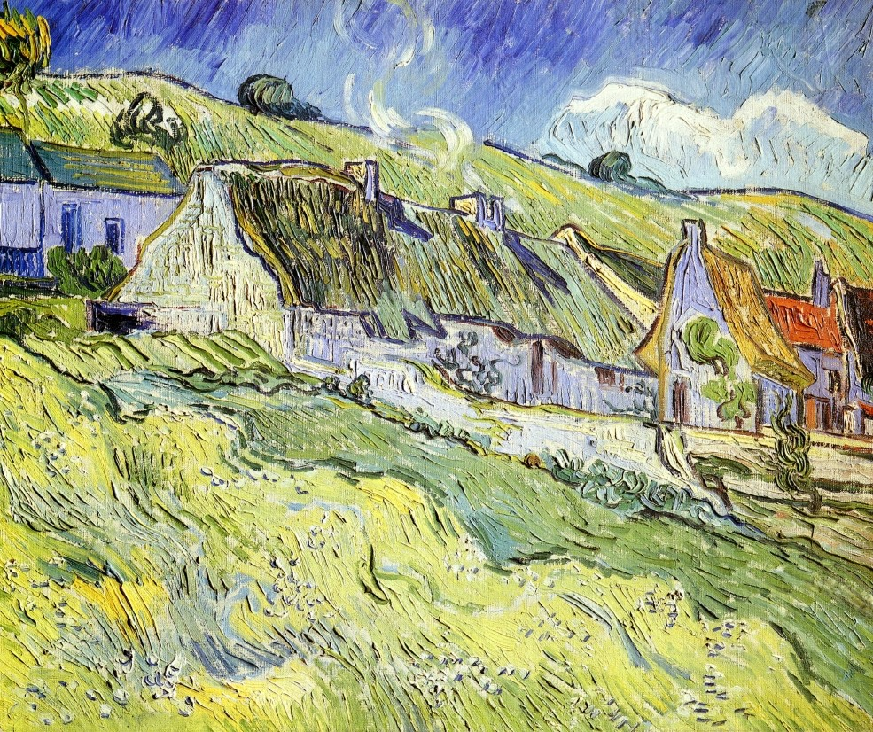 A Group of Cottages by Vincent van Gogh