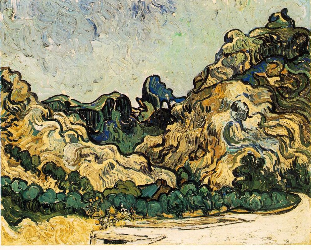 Mountains at Saint-Remy by Vincent van Gogh