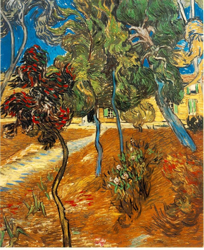 Trees in the Asylum Garden by Vincent van Gogh
