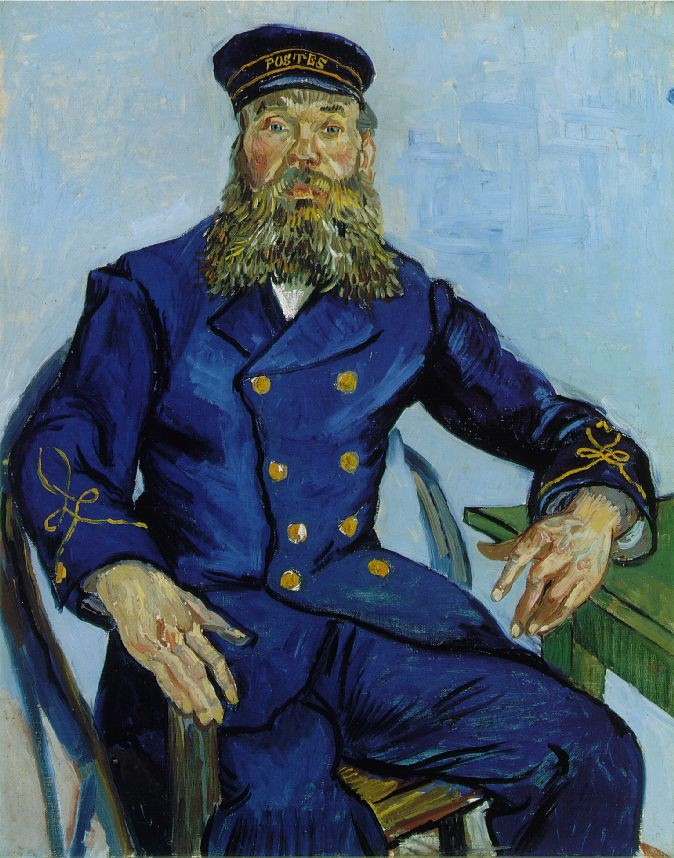 The Postman Joseph Roulin by Vincent van Gogh