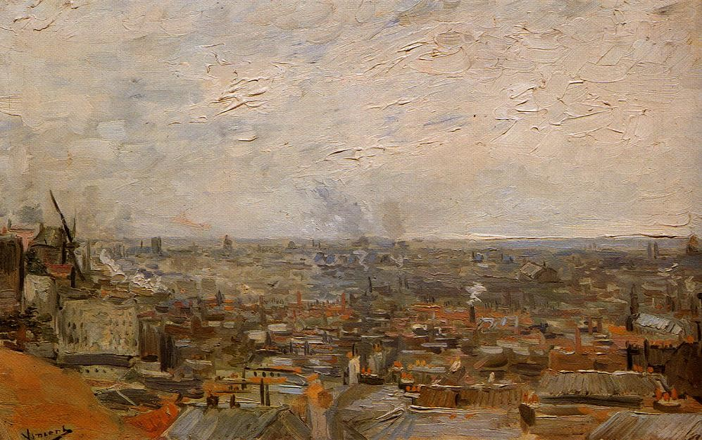 View of Paris from Montmartre by Vincent van Gogh