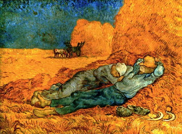 Noon Rest from Work (after Millet) by Vincent van Gogh