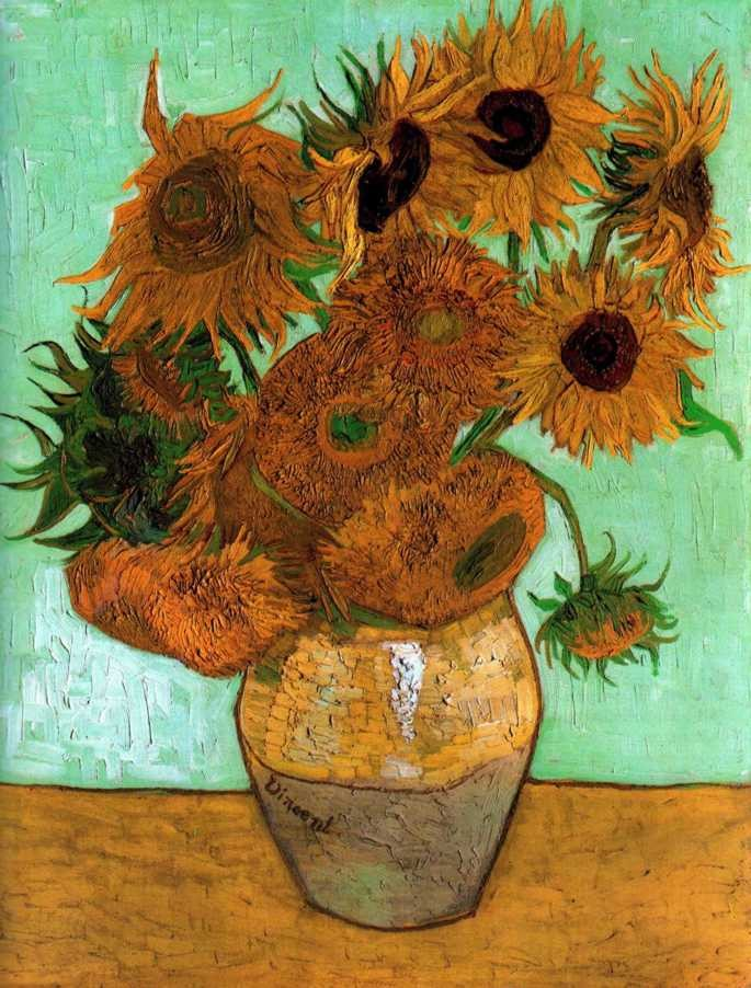 Sunflowers in a Vase by Vincent van Gogh