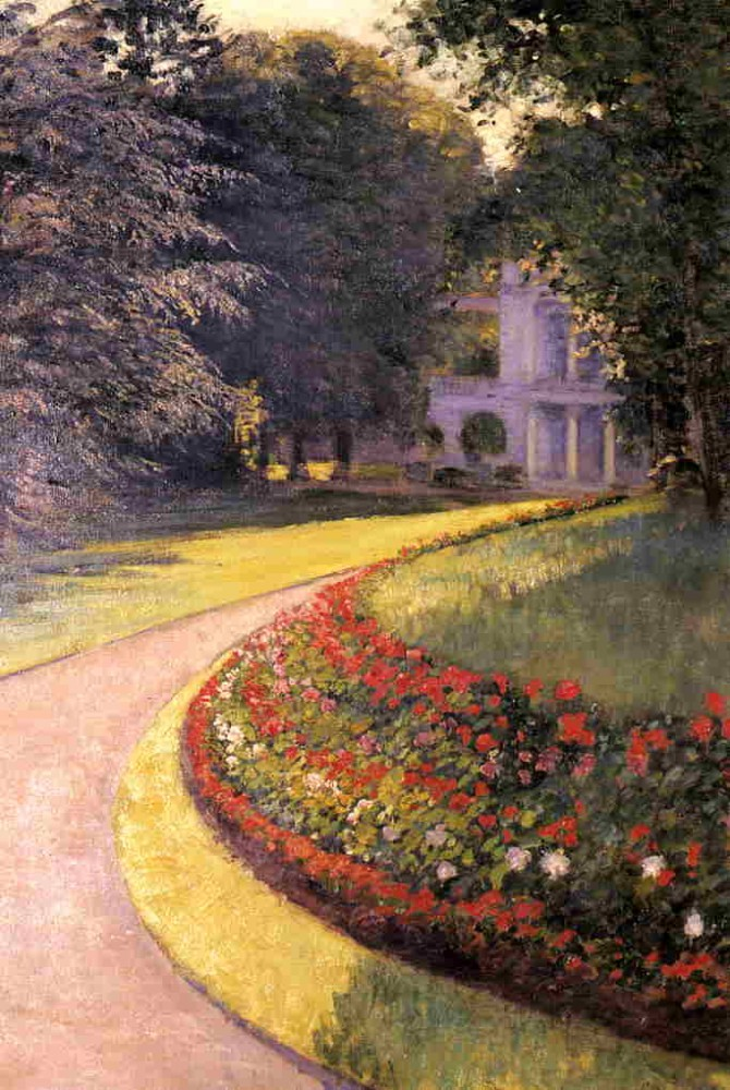 The Park at Yerres by Gustave Caillebotte