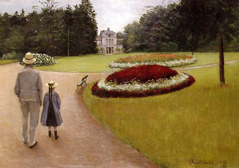 The Park on the Caillebotte Property at Yerres by Gustave Caillebotte