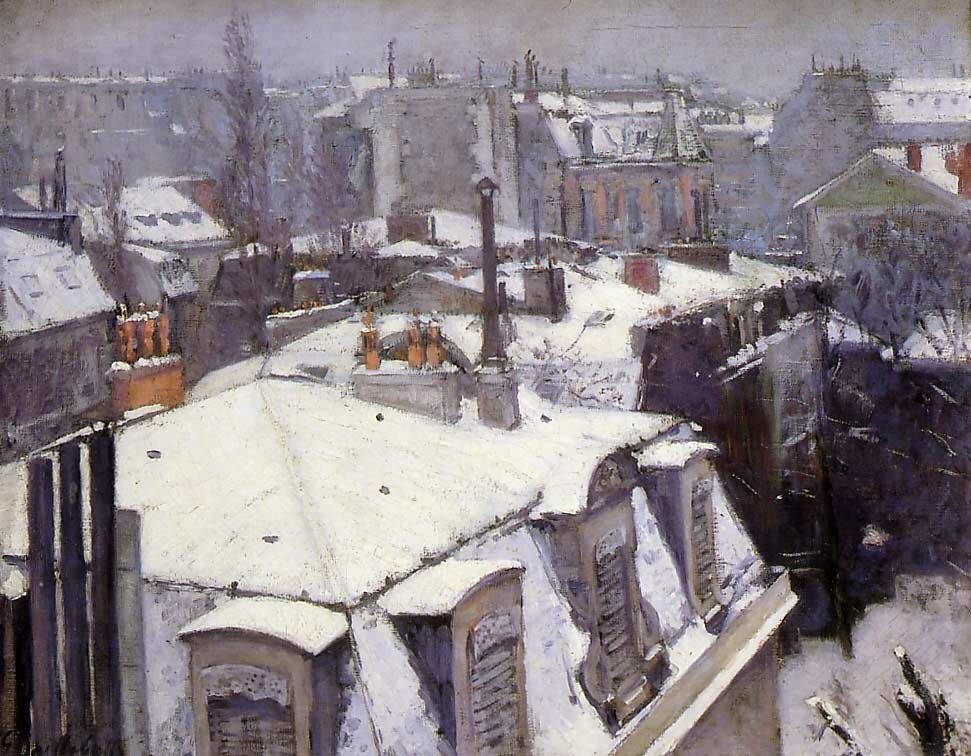 Paris Rooftops by Gustave Caillebotte