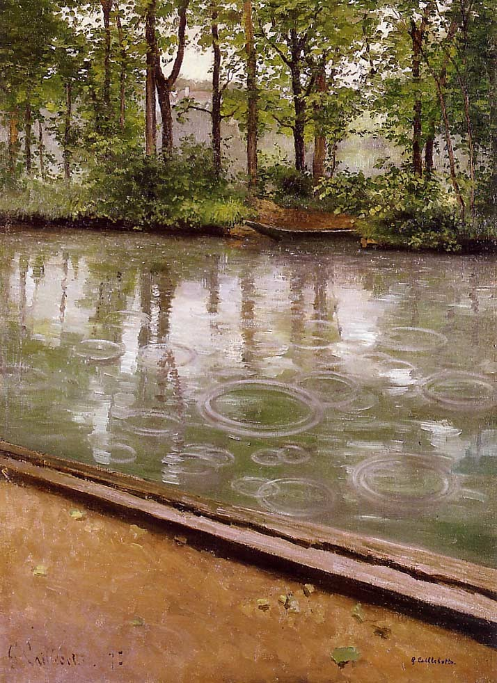 The Yerres Rain by Gustave Caillebotte