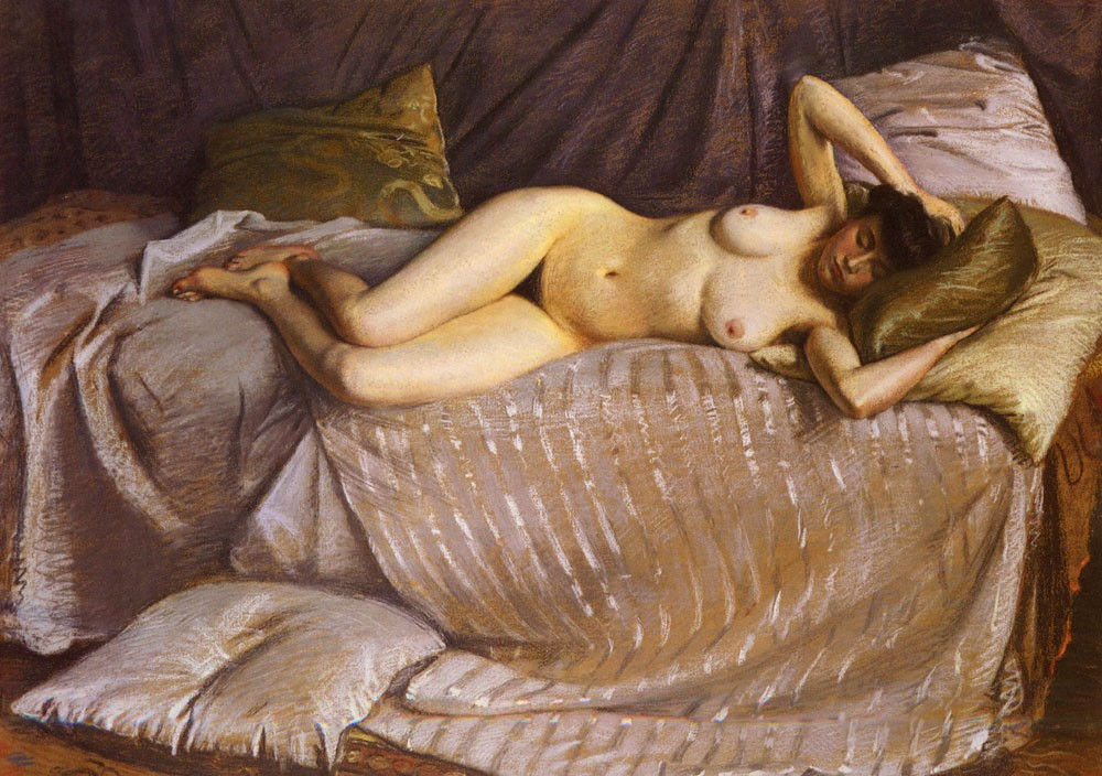Female Nude by Gustave Caillebotte
