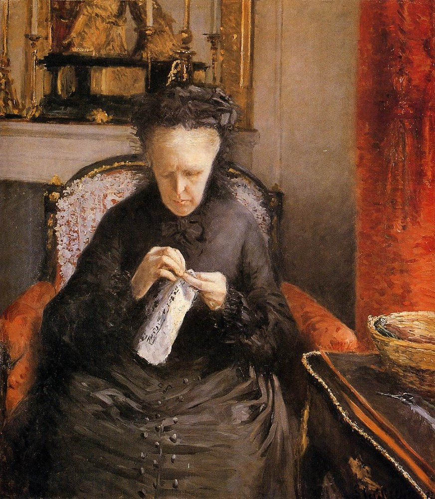 Portait of Madame Martial Caillebote the Artists Mother by Gustave Caillebotte