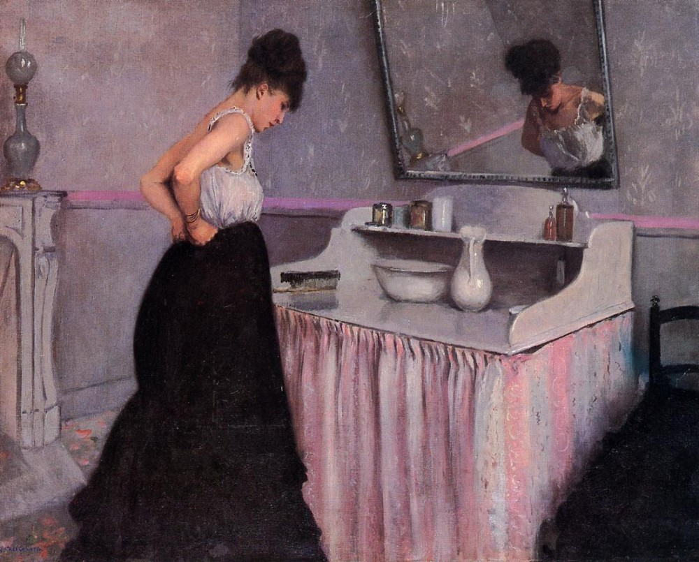 Woman at a Dressing Table by Gustave Caillebotte