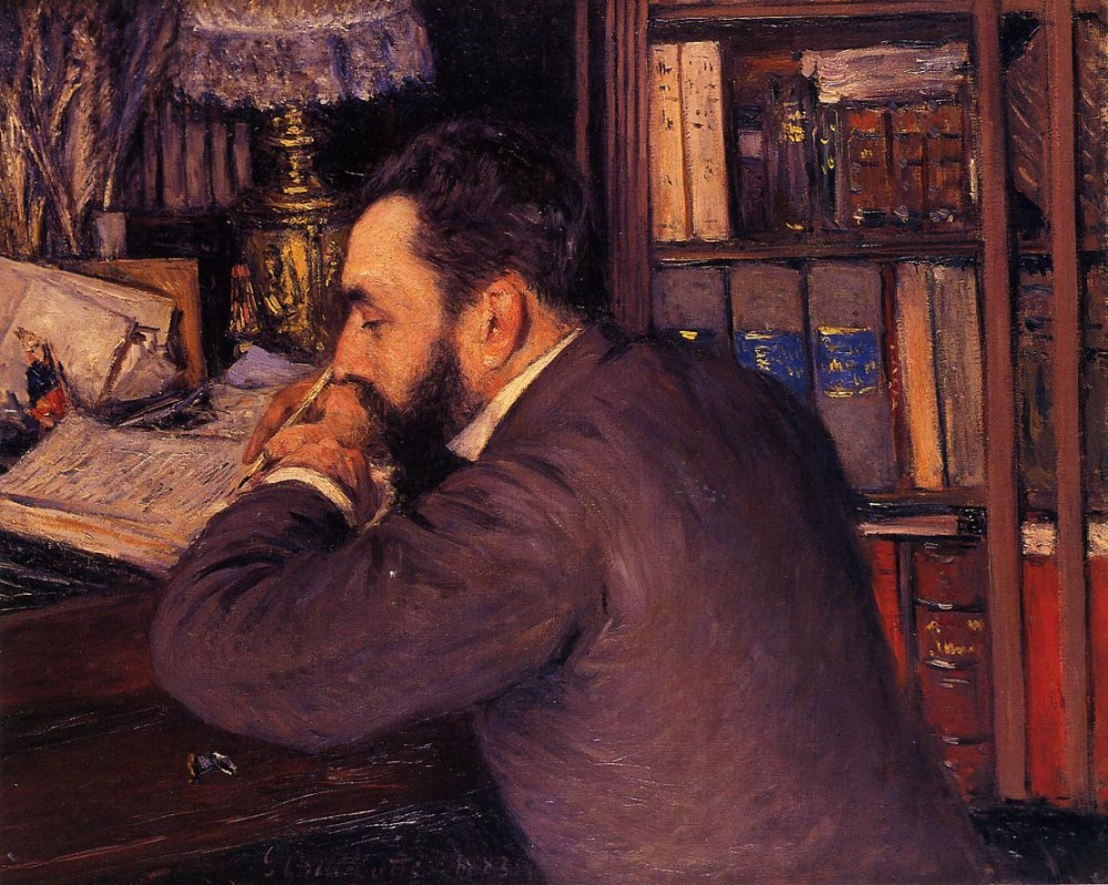 Portrait of Henri Cordier by Gustave Caillebotte