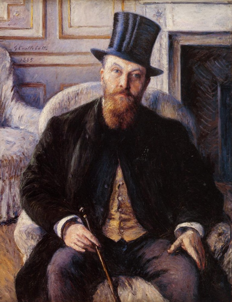 Portrait of Jules Dubois by Gustave Caillebotte