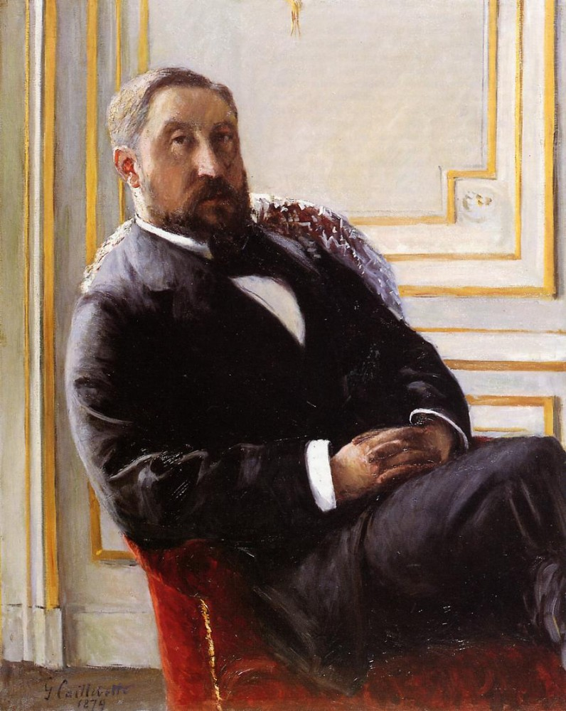 Portrait of Jules Richemont by Gustave Caillebotte
