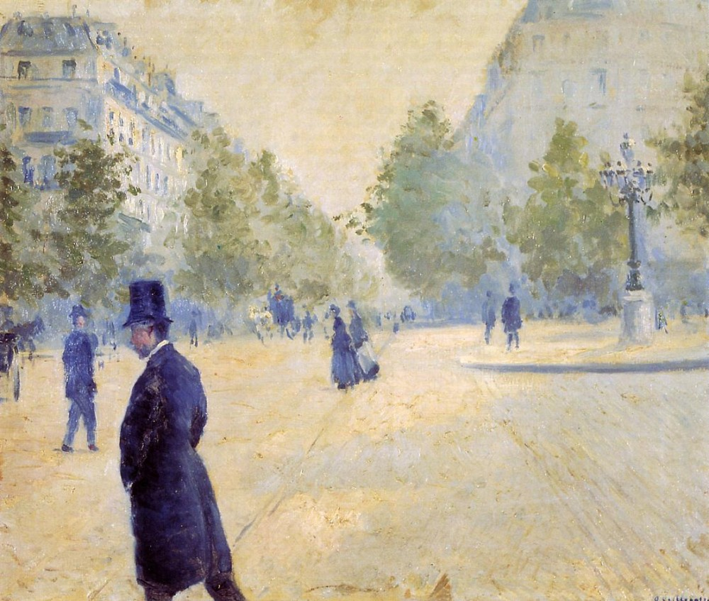 Place Saint-Augus tin Misty Weather by Gustave Caillebotte