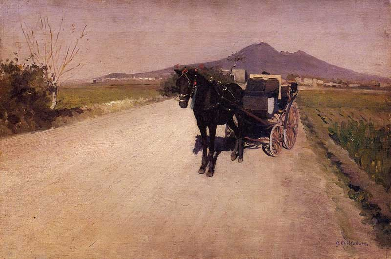 A Road Near Naples by Gustave Caillebotte