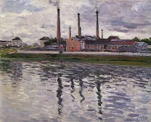 Factories at Argenteuil by Gustave Caillebotte