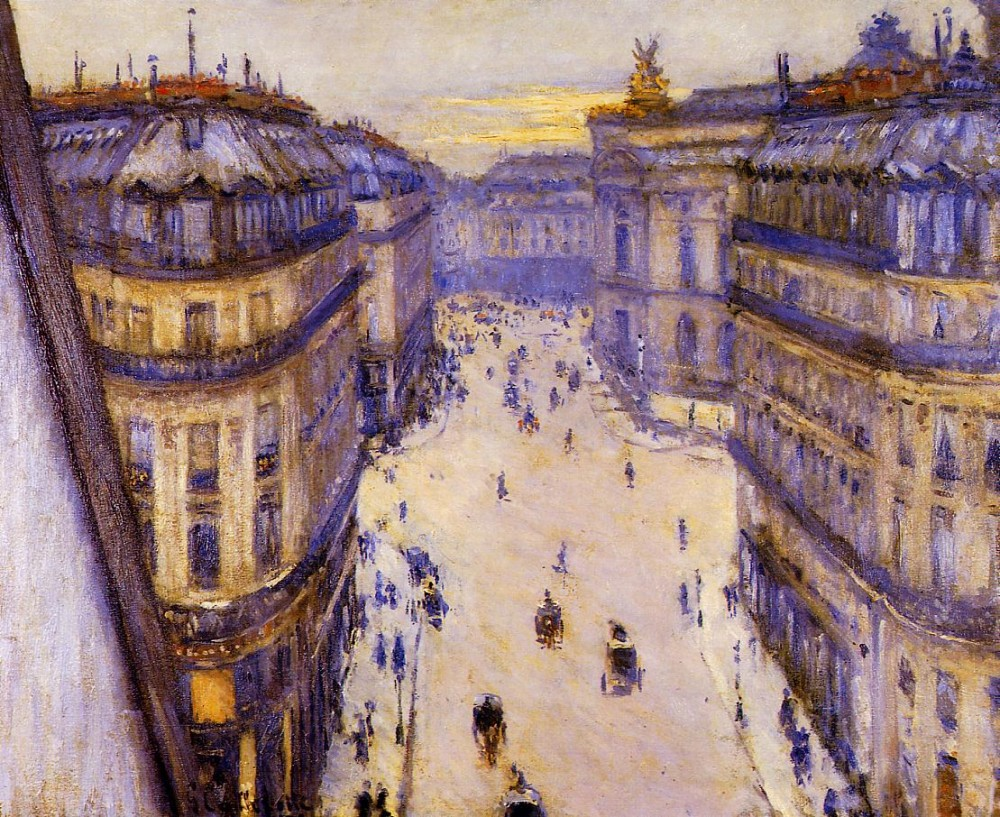 Rue Halevy Seen from the Sixth Floor by Gustave Caillebotte