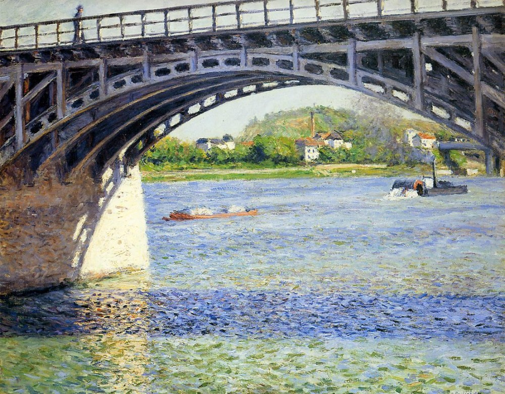 The Argenteuil Bridge and the Seine by Gustave Caillebotte
