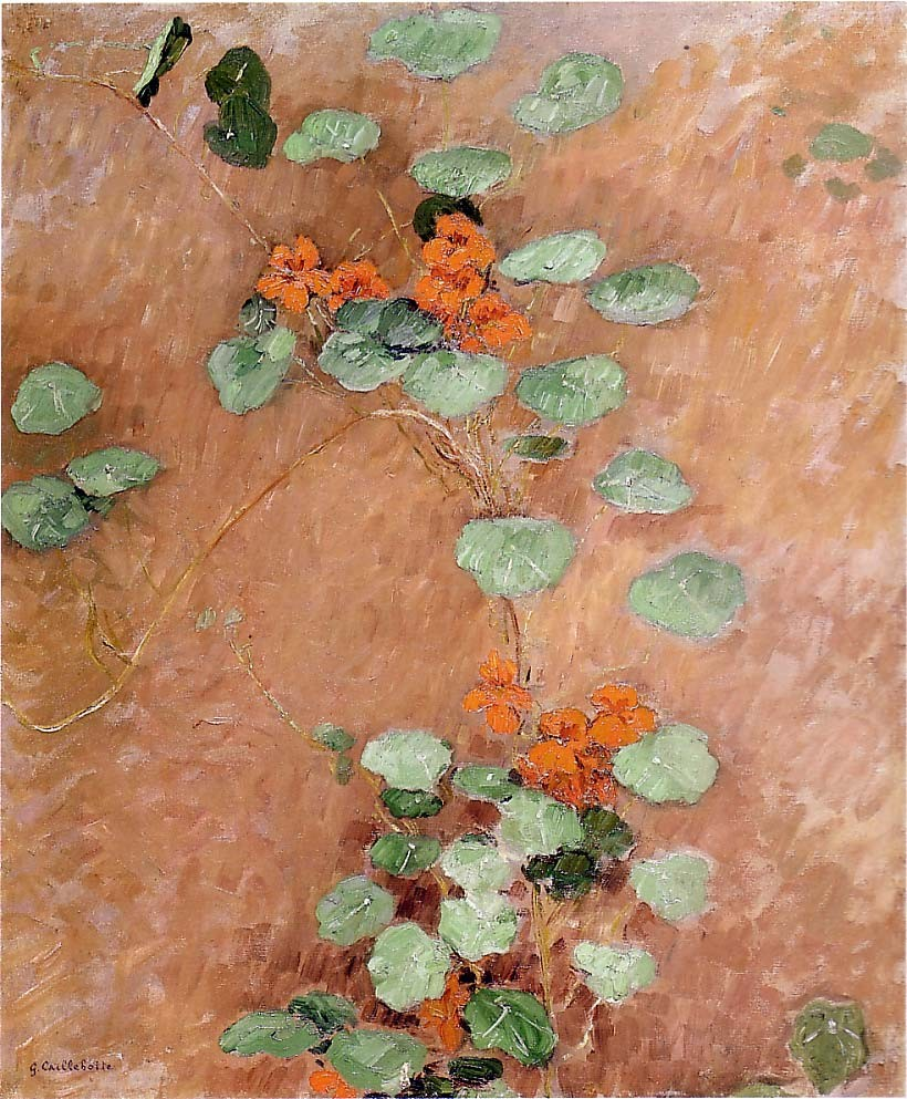 Nasturtiums by Gustave Caillebotte