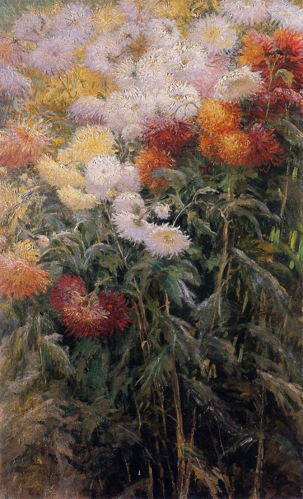 Clump of Chrysanthemums Garden at Petit Gennevilliers by Gustave Caillebotte