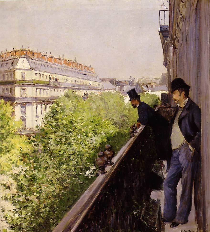 A Balcony by Gustave Caillebotte