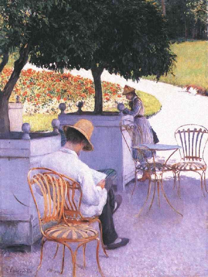 The Orange Trees by Gustave Caillebotte