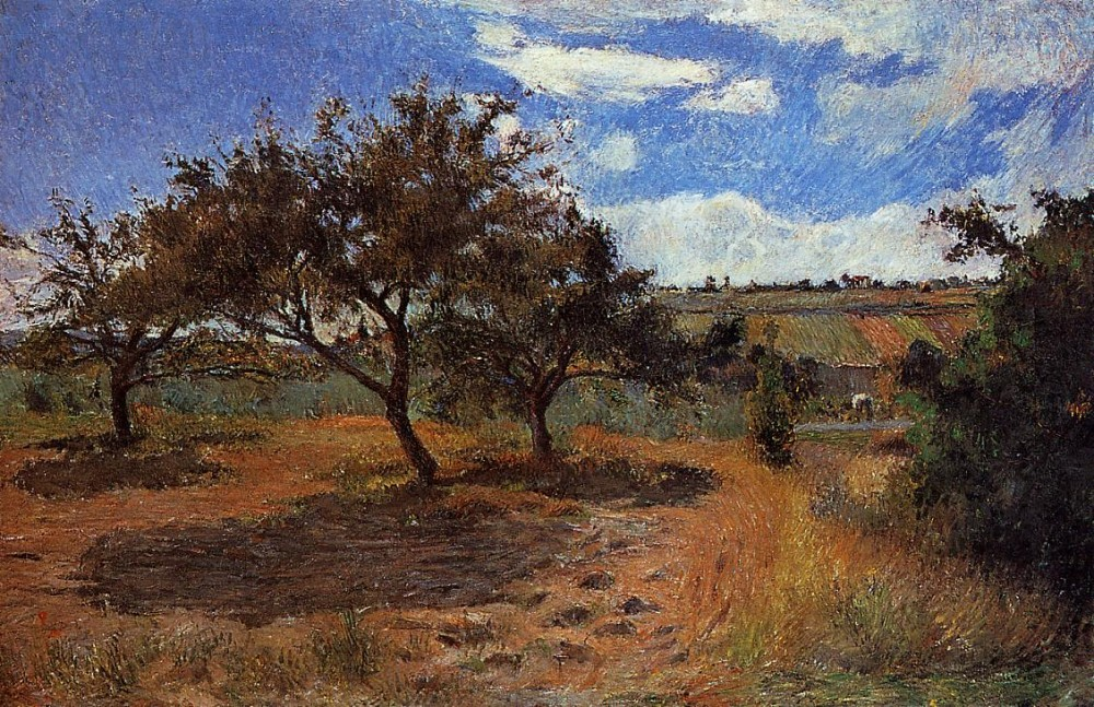 Apple Trees at L'Hermitage II by Eugène Henri Paul Gauguin