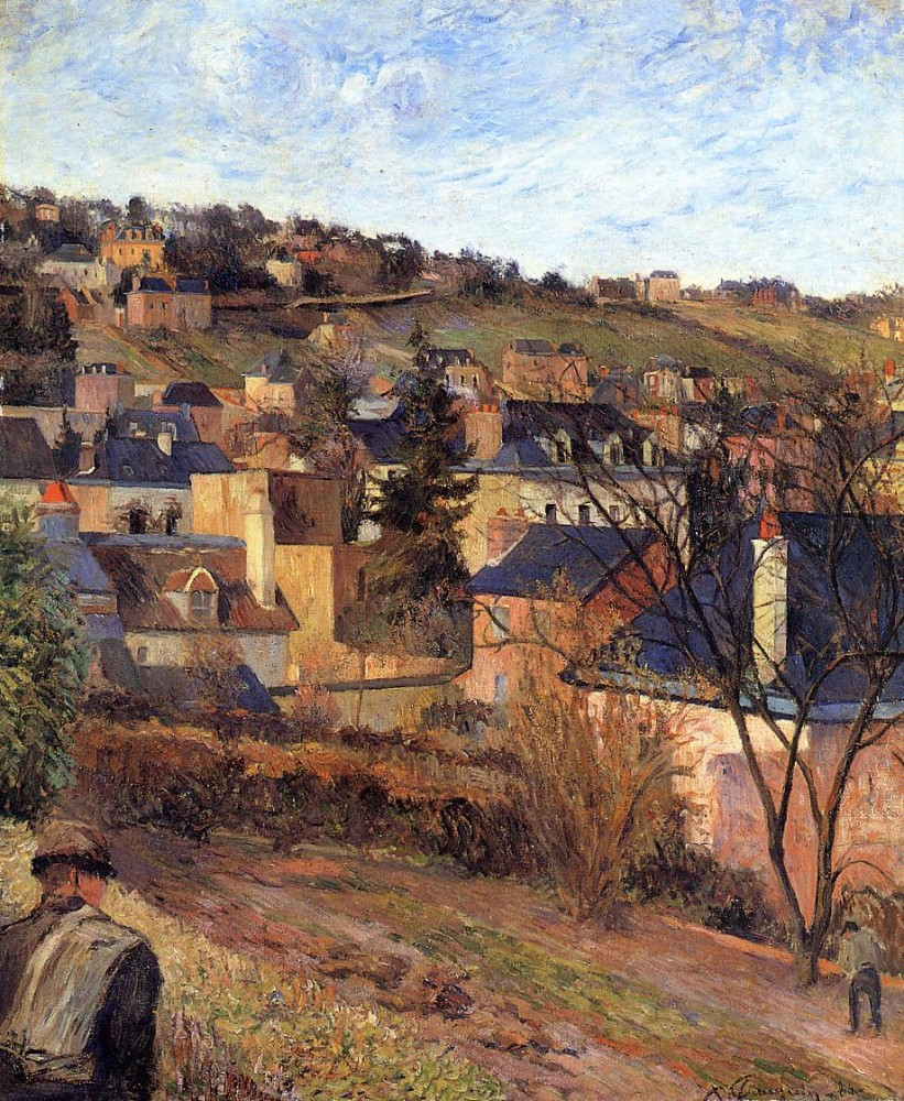 Blue Roofs, Rouen by Eugène Henri Paul Gauguin