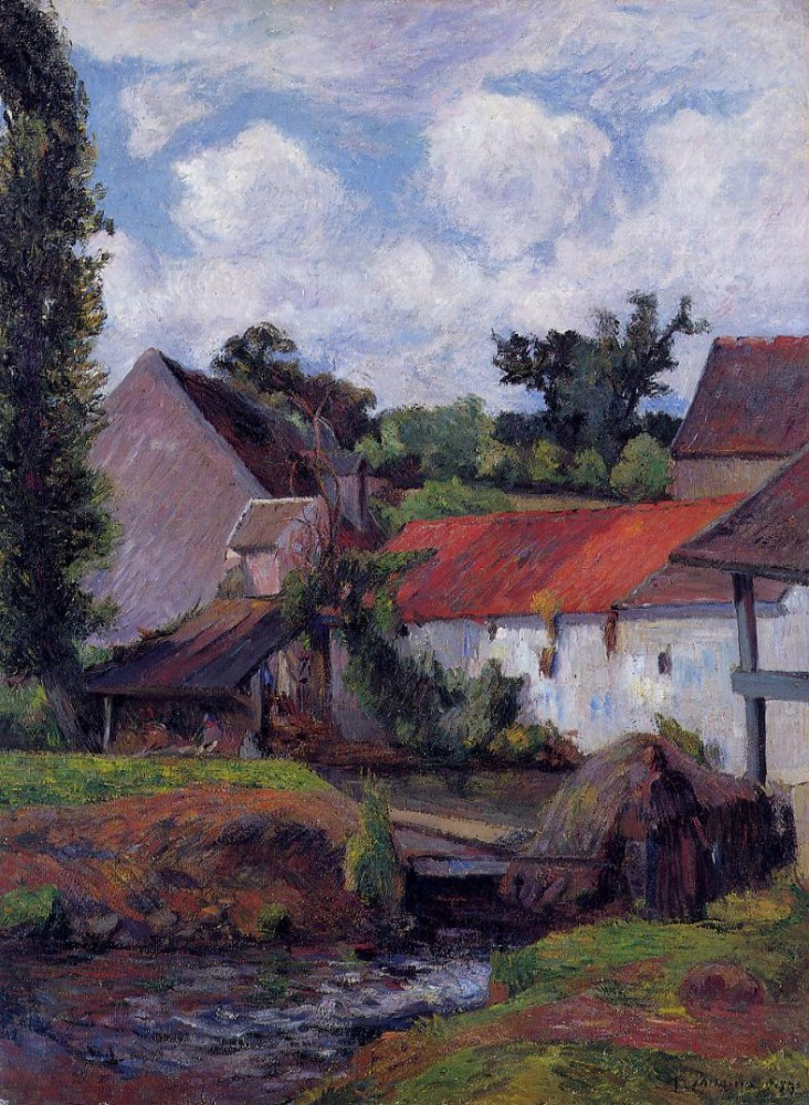 Farm In Osny by Eugène Henri Paul Gauguin