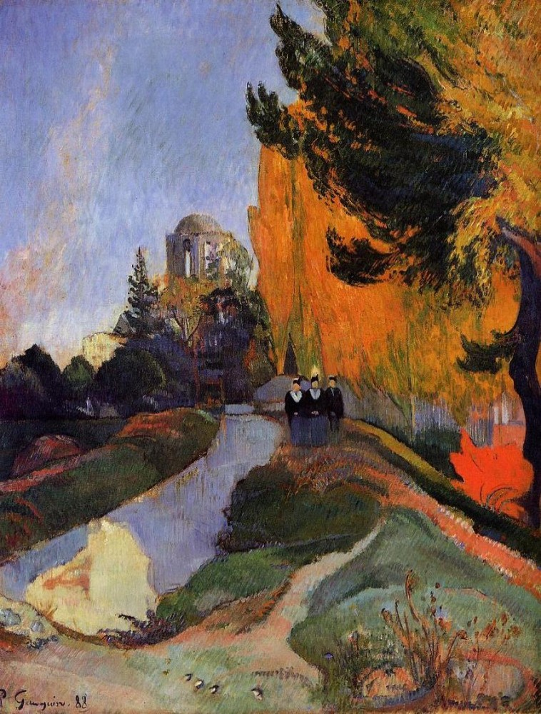 Les Alychamps by Eugène Henri Paul Gauguin