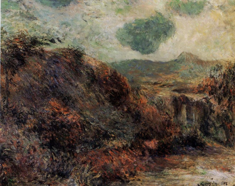 Mountain Landscape by Eugène Henri Paul Gauguin