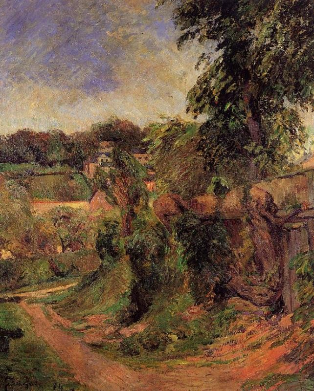 Near Rouen by Eugène Henri Paul Gauguin