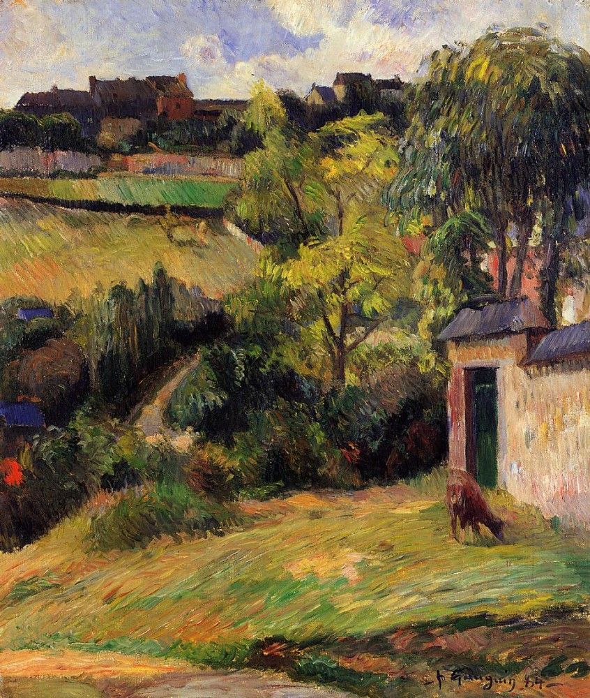 Rouen Suburb by Eugène Henri Paul Gauguin