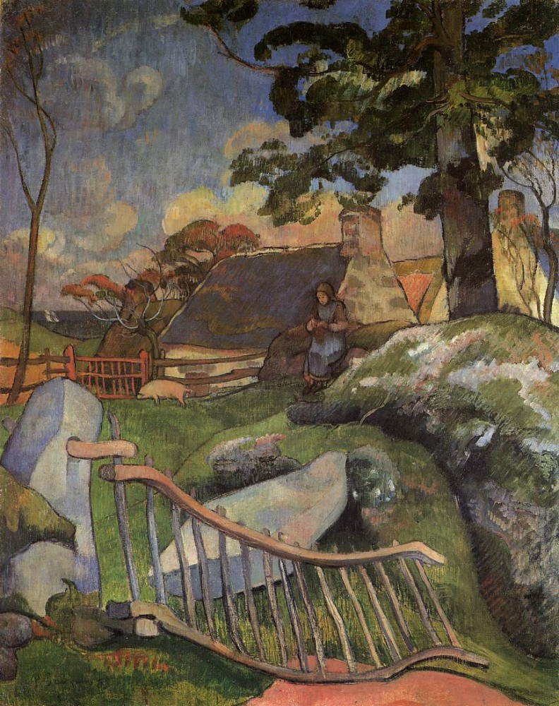 The Gate by Eugène Henri Paul Gauguin