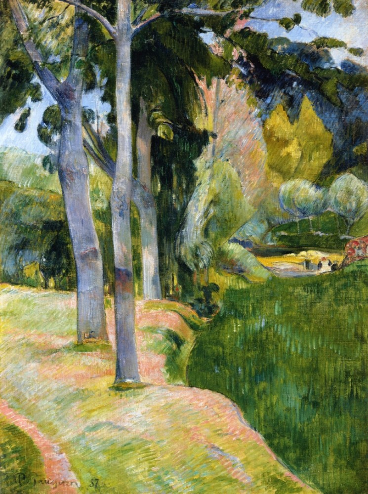 The Large Trees by Eugène Henri Paul Gauguin
