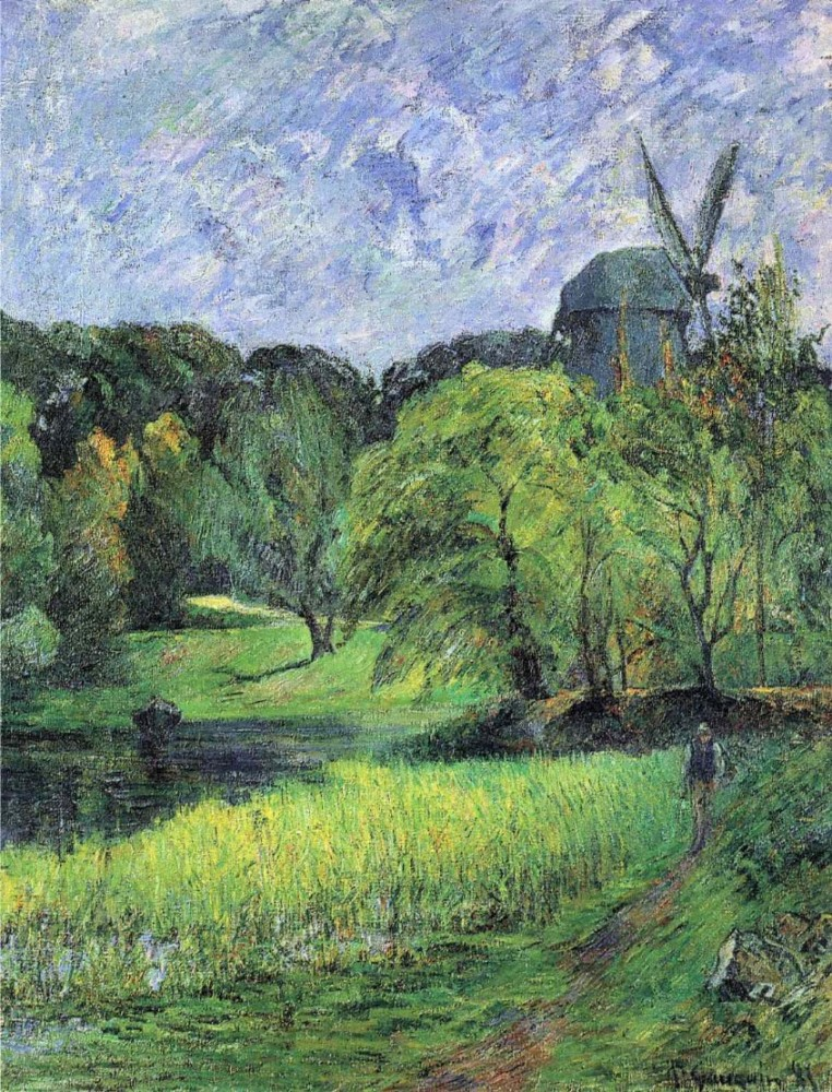 The Queen's Mill, Ostervold by Eugène Henri Paul Gauguin