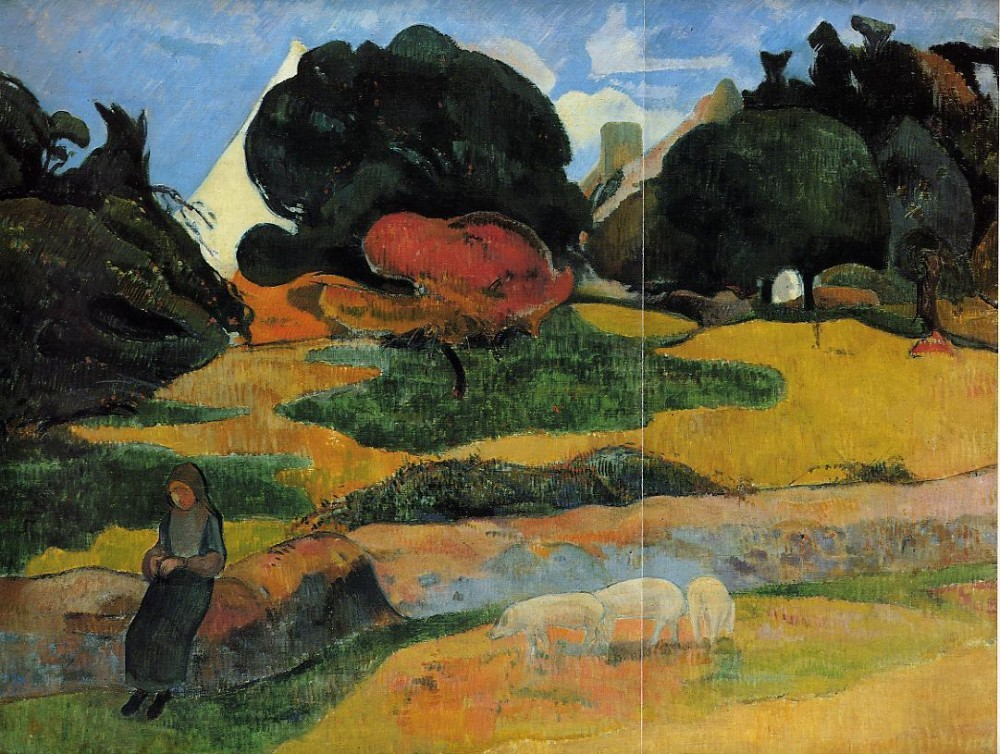 The Swineheard II by Eugène Henri Paul Gauguin