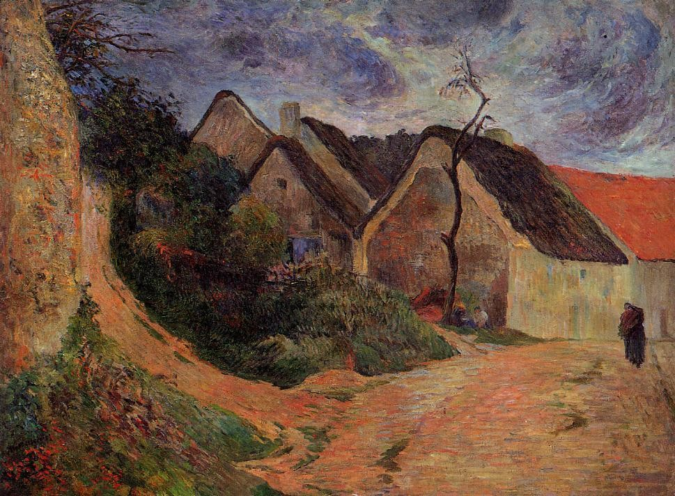 Village Street, Osny by Eugène Henri Paul Gauguin
