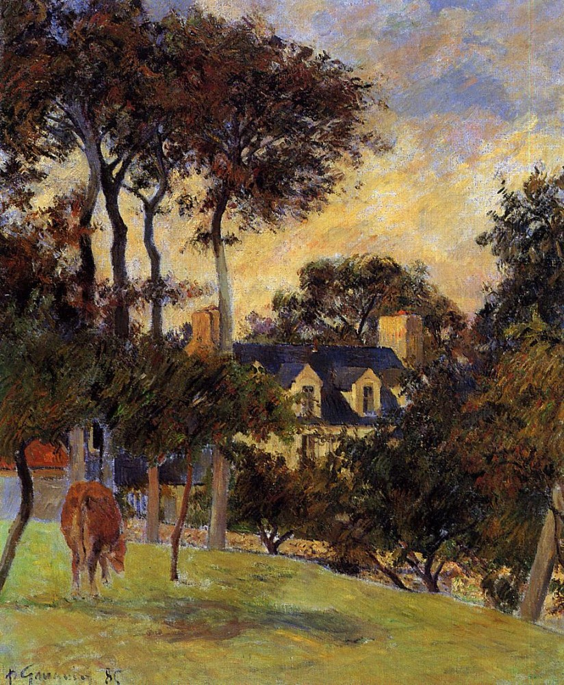 White House by Eugène Henri Paul Gauguin