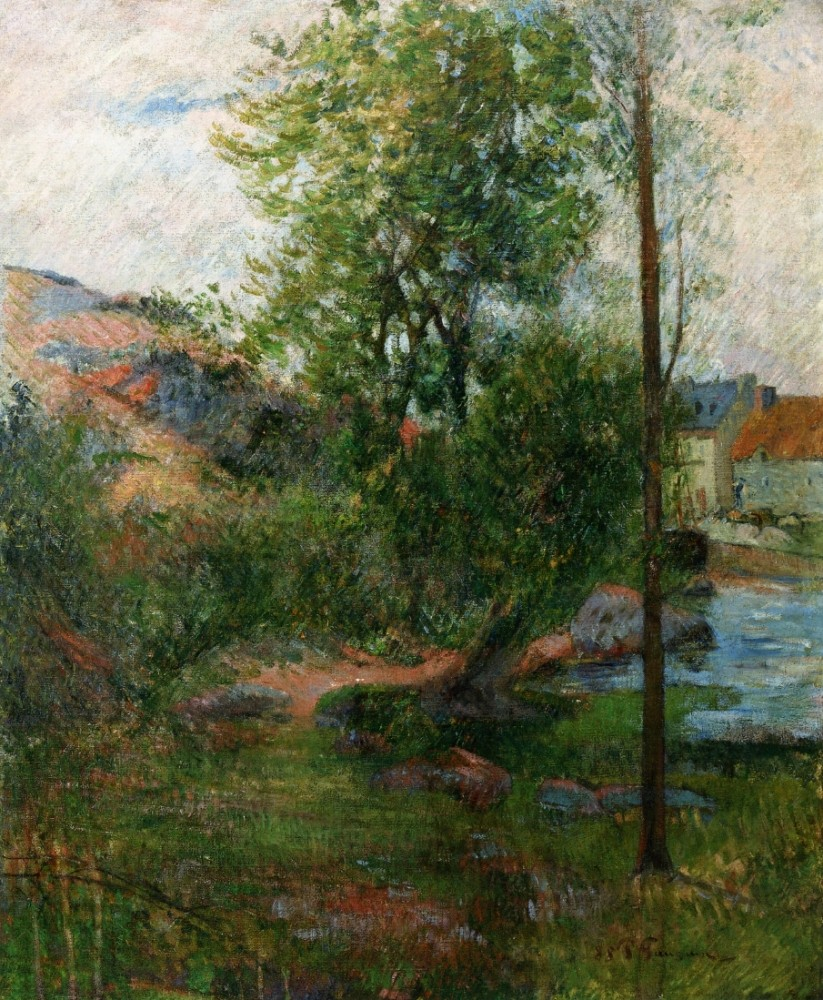 Willow By The Aven by Eugène Henri Paul Gauguin