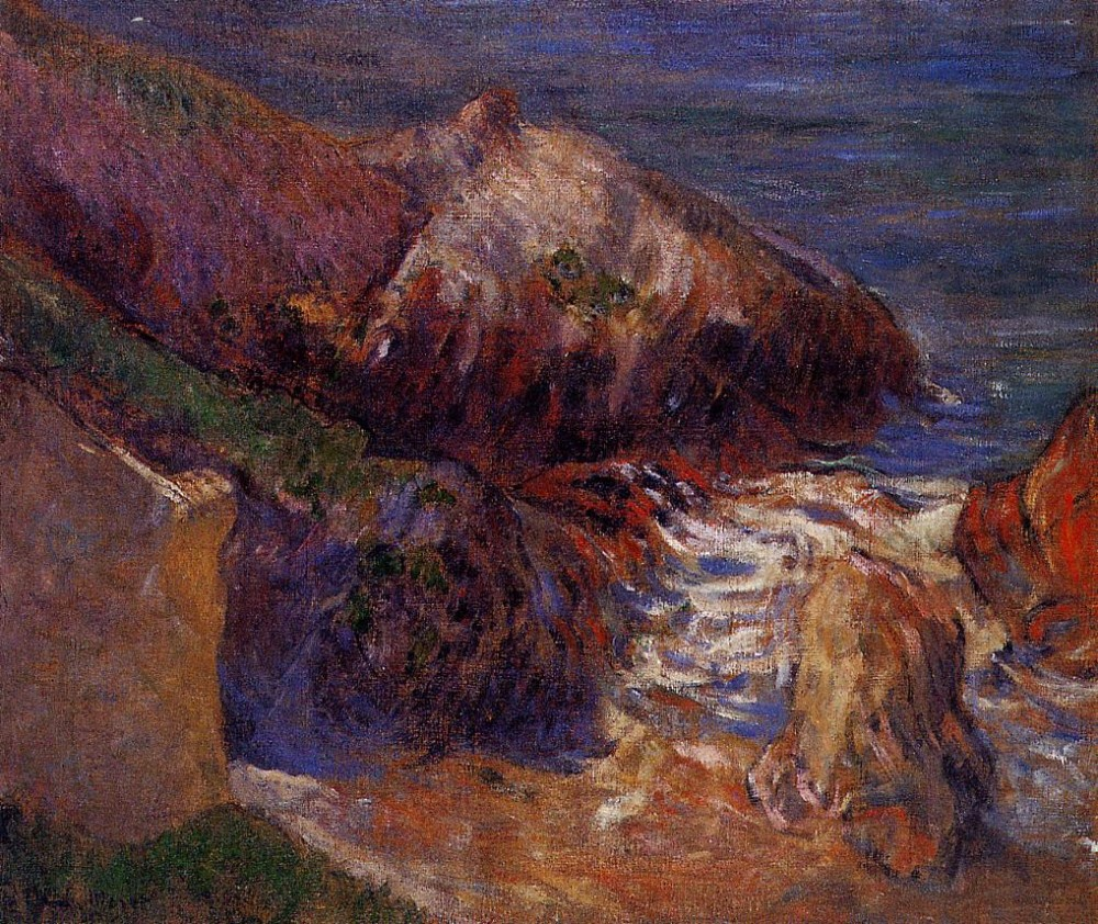 Rocks On The Coast by Eugène Henri Paul Gauguin