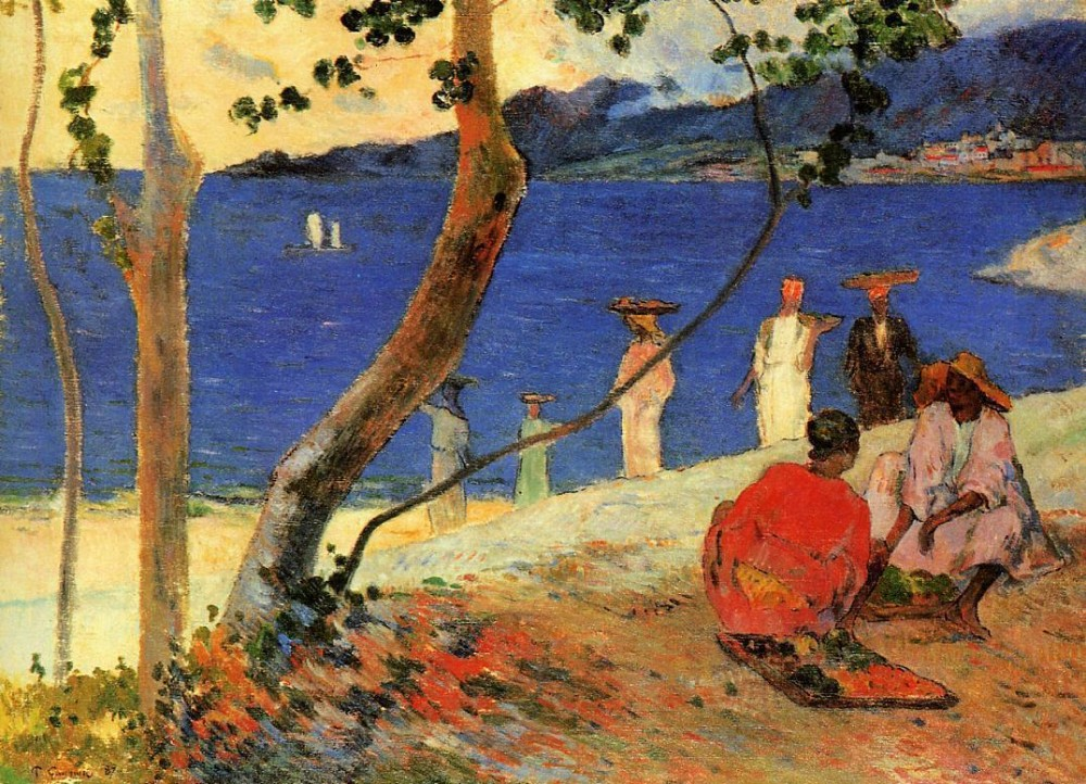 Seashore, Martinique by Eugène Henri Paul Gauguin