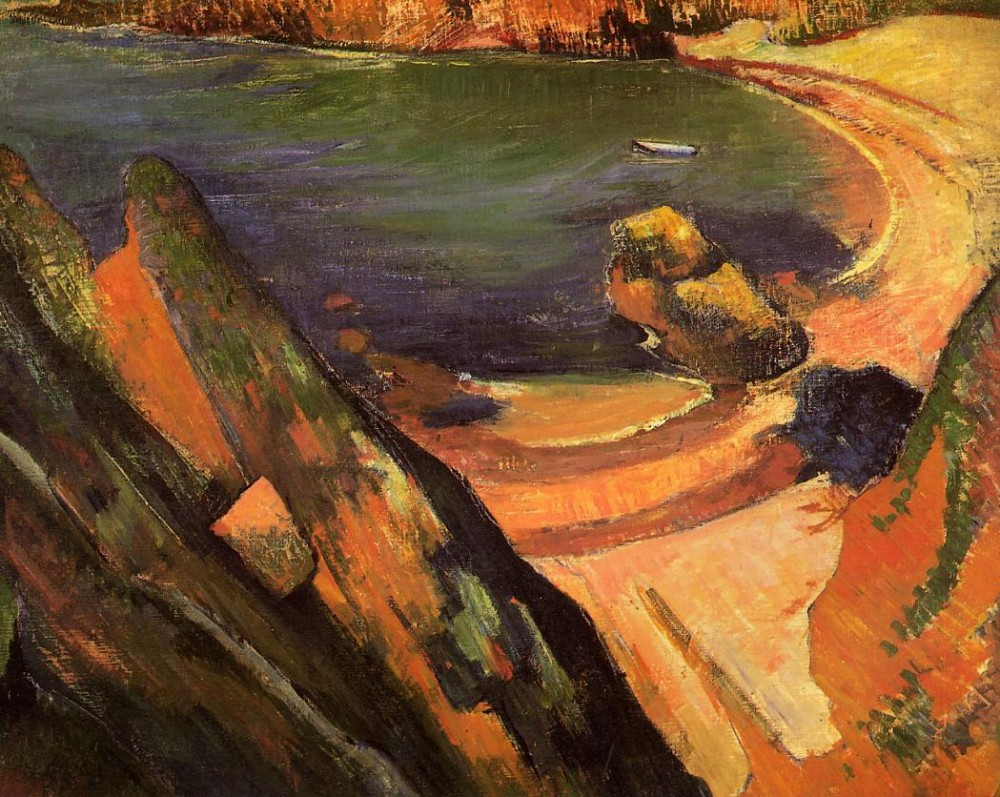 The Creek, Le Pouldu by Eugène Henri Paul Gauguin