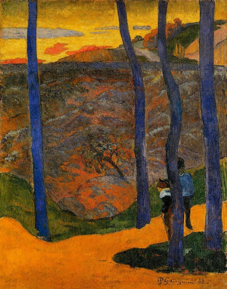 Blue Trees by Eugène Henri Paul Gauguin