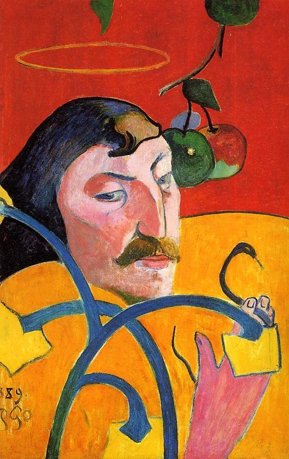 Caricature, Self Portrait by Eugène Henri Paul Gauguin