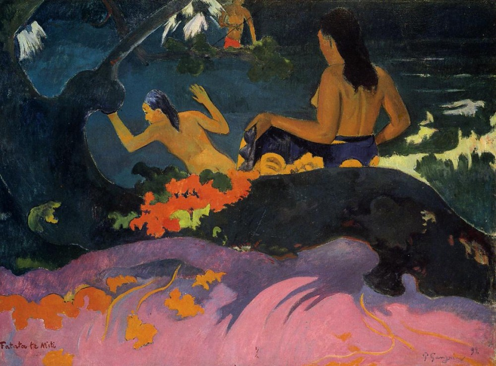 By The Sea by Eugène Henri Paul Gauguin
