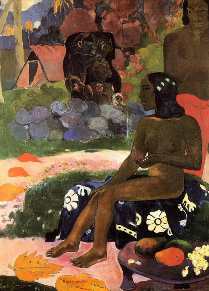 Her Name Is Viaraumati by Eugène Henri Paul Gauguin