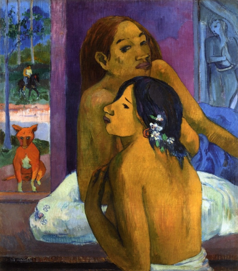 Two Women II by Eugène Henri Paul Gauguin