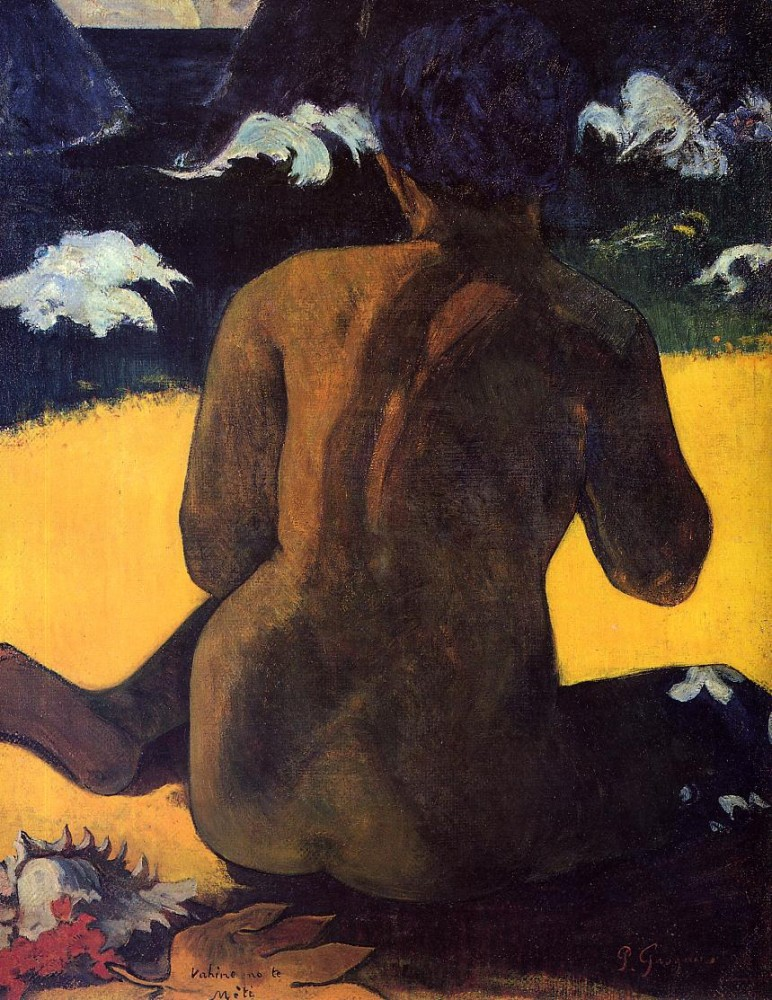 Woman By The Sea by Eugène Henri Paul Gauguin