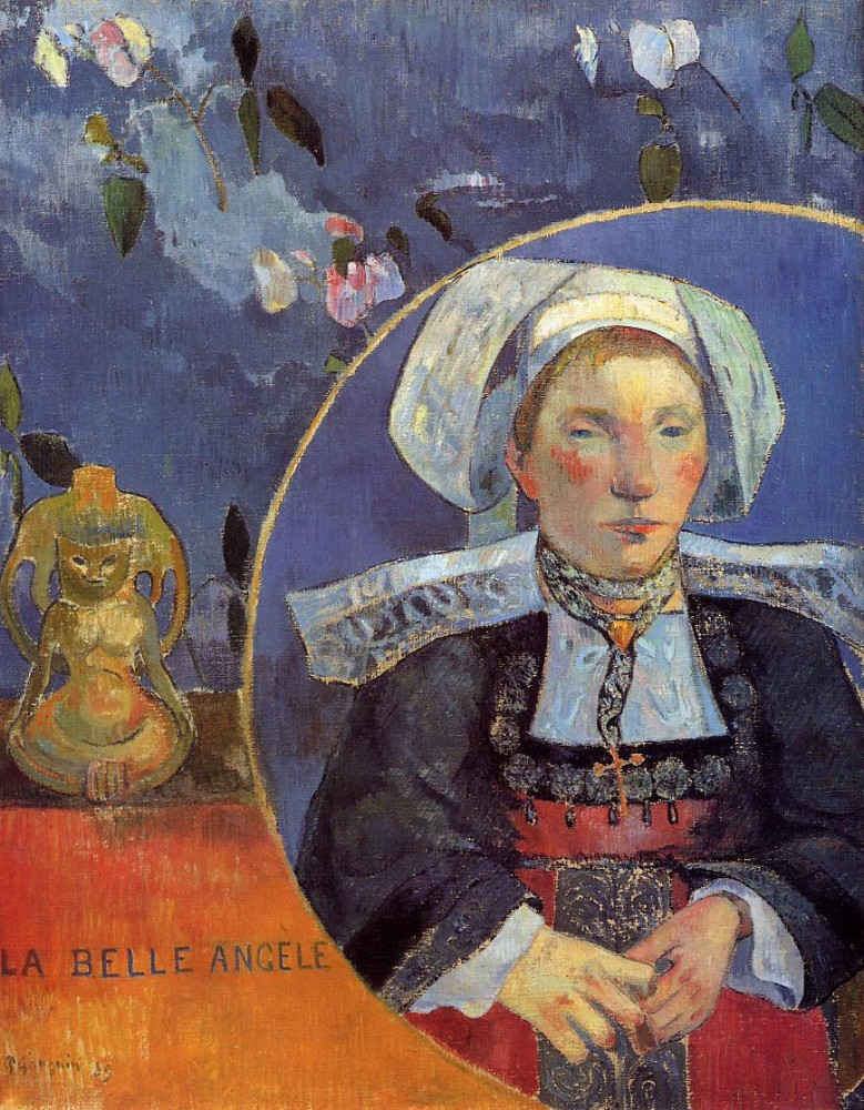 La Belle Angele by Eugène Henri Paul Gauguin